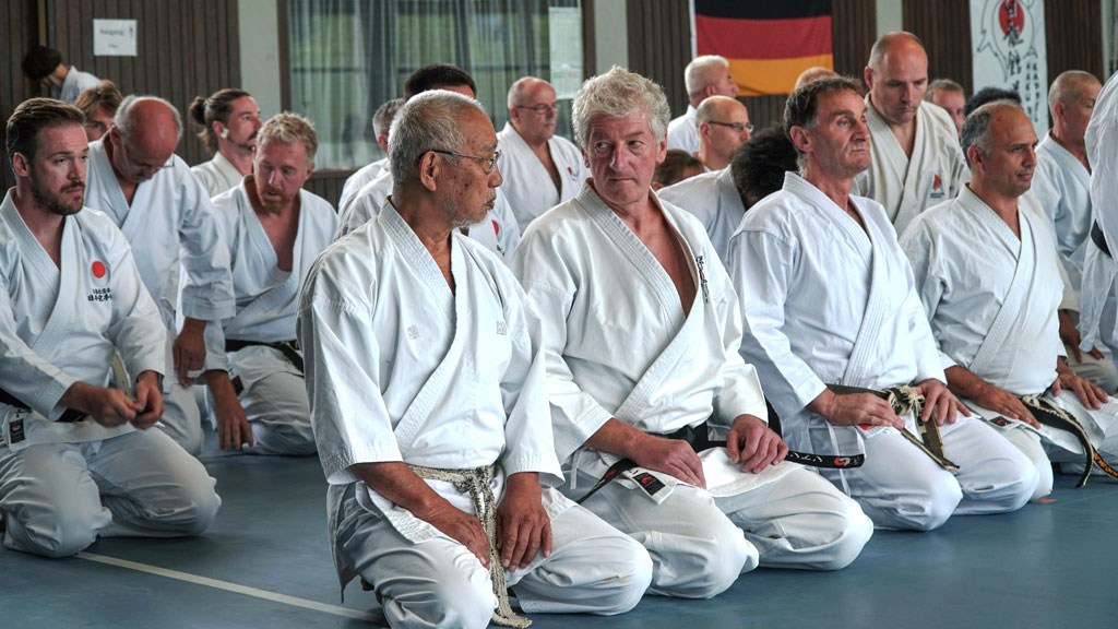 Dr Anton Sàlat (right) next to Tanaka sensei
